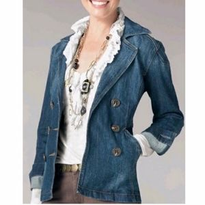 CAbi Denim Double Breasted Jacket L